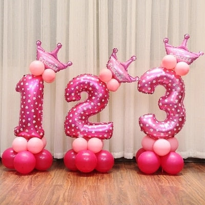 16 inch Figure Digit Number Balloons Number Foil Balloon For Decoration Happy Birthday Balloon - NosNos