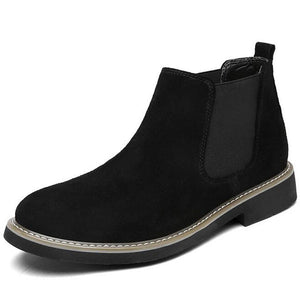 YIGER NEW Men Chelsea Boots Ankle Boots Fashion Men's Male Brand Leather Quality