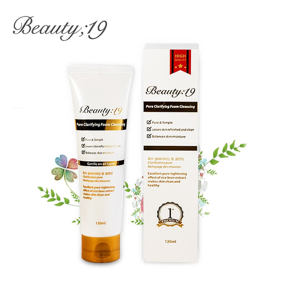 Korean cosmetics Beauty;19 brand moisturizing foam facial cleansing