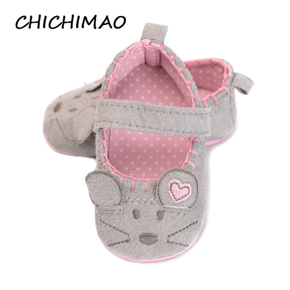 Newborn Baby Girl Shoes Cute Animal Princess Kid Anti-slip On Shoes