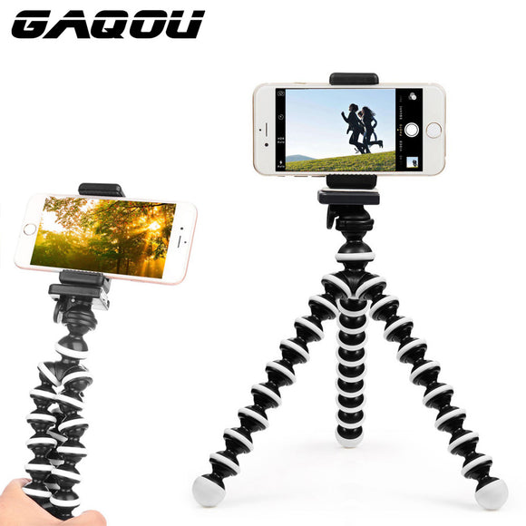 GAQOU Mini Octopus Tripod Bracket Portable Flexible Phone Holder