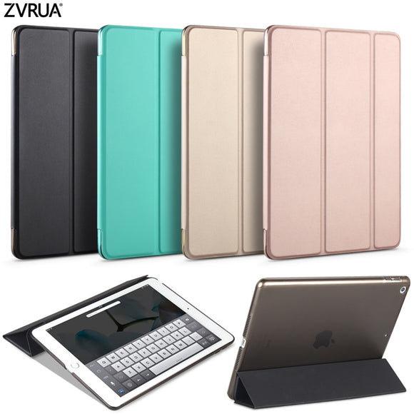 Case for New iPad 9.7 inch 2017 2018, ZVRUA YiPPee Color PU Smart Cover Case