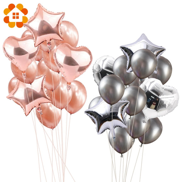 14pcs 12inch 18inch Multi Air Balloons Happy Birthday Party Helium Balloon Decorations Wedding Festival Balon Party Supplies - NosNos