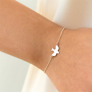 New Arrival Peace Dove Bracelets For Women Extreme Simplicity Gold Choker Bracelet