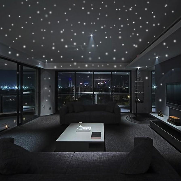 Hot Sales 407Pcs Glow In The Dark Star Wall Stickers