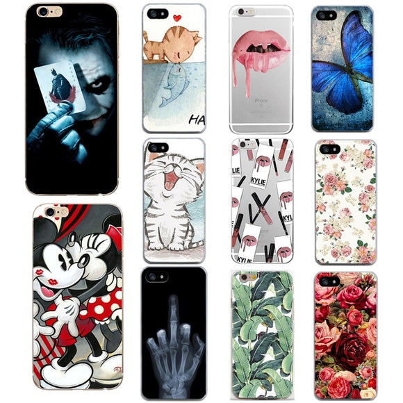 Luxury Flower Case For iPhone 7 8 Plus 6 s 6s Cartoon Minnie Soft Silicon TPU Back Cover For iPhone X 10 5s 5 s SE Fundas Coque
