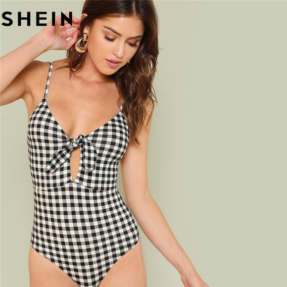SHEIN Sleeveless Spaghetti Strap Sexy Backless Summer Women Bodysuits
