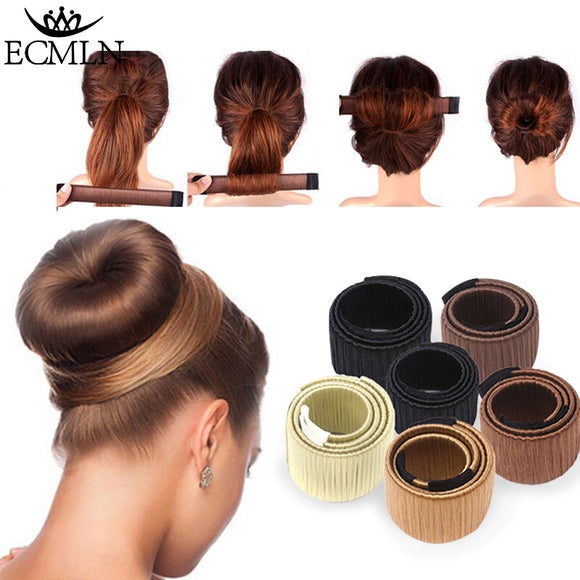 Hair Accessories Synthetic Wig Donuts Bud Head Band Ball French Twist Magic