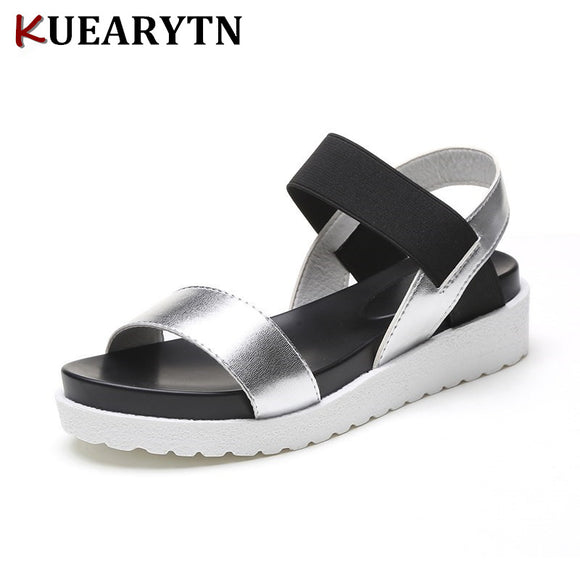 2018 New Hot Sale Sandals Women Summer Slip On Shoes Peep-toe Flat Shoes Roman Sandals Mujer Sandalias Ladies Flip Flops Sandal - NosNos