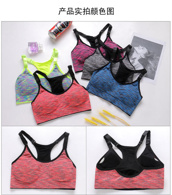Hot sell Fitness Sports Bra Women Running Yoga Bra Push Up Sport Bra Top Athletic Vest Yoga Top Padded Brassiere Sport Top bras