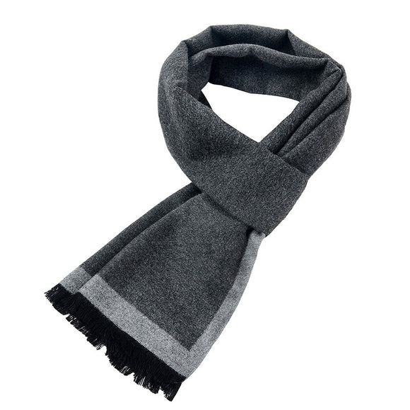 [Peacesky]2017 New Brand Winter Men's gift Gray Striped Scarves