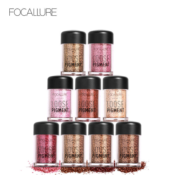 FOCALLURE Crystal Loose Powder Glitter Shimmer Shiny Pigment Eye Shadow