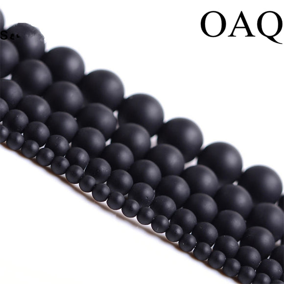 Natural Stone Beads 4-14mm Round Matte for jewelry making