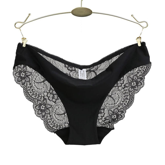 Ladies Underwear Woman Panties Sexy Lace Plus Size Panty Transparent Low-Rise Cotton