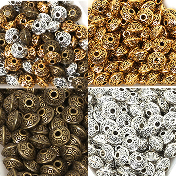 50PCs/bag 6mm Tibetan Metal Beads Antique