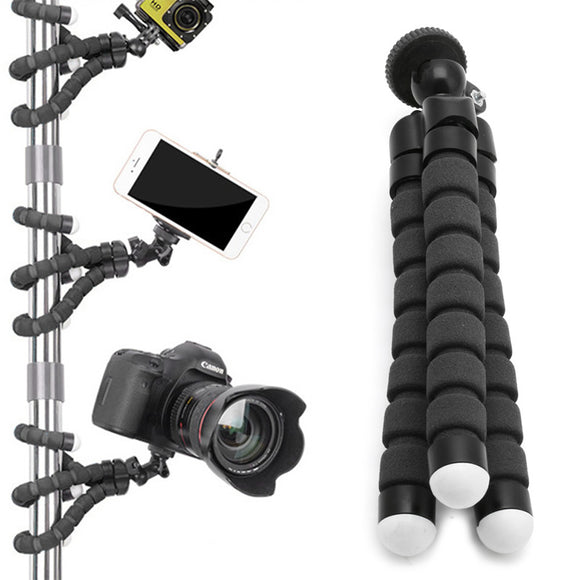 OOTDTY Flexible Tripod Stand Gorilla Mount Monopod Holder Octopus