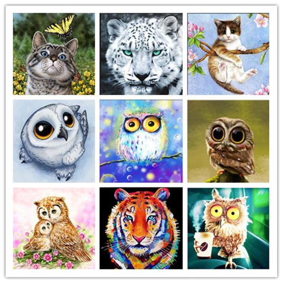 DIY 5D Diamond Painting Mosaic Cartoon Cute pet Animals Handmade