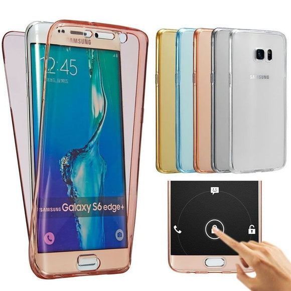 Luxury Soft 360 Full Cover Silicone Case for Samsung Galaxy J3 J5 J7 A5 A3 A7 2016 2017 J4 J6 A8 A6 2018 s8 S9 Plus S7 S6 edge