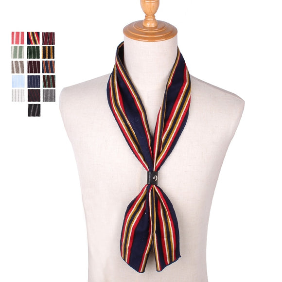 Spring Autumn Scarf Casual Cotton Mens Scarves Square Ladies Striped