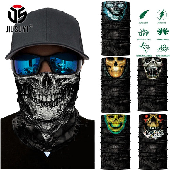 3D Seamless Balaclava Magic Scarf Neck Face Mask Ghost Skull Skeleton Head