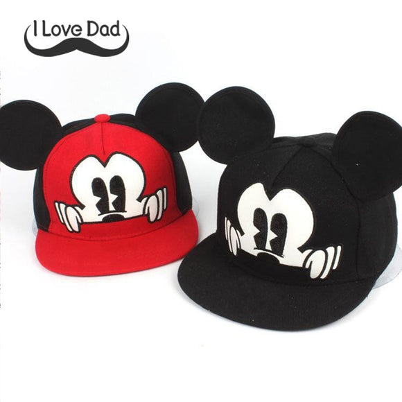 Hot Mickey ear hats children snapback Caps baseball Cap