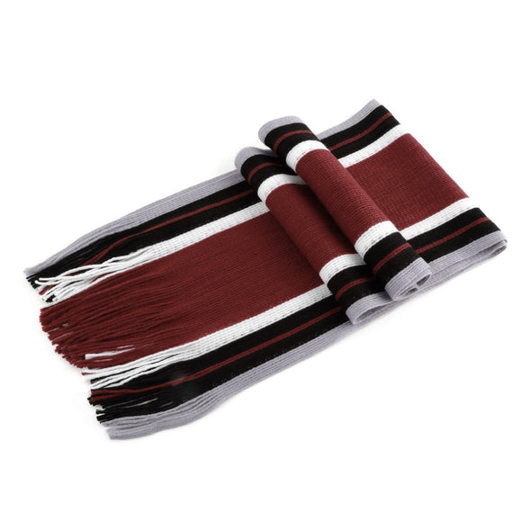 Men's Striped Faux Cashmere 's Scarf With Tassels Fashion All-match Style