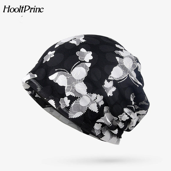 Printing Flower Caps Brand New Women's Summer Autumn Hat 2018