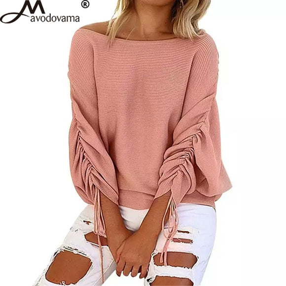 Avodovama M Sexy Autumn Sweater 2018 Fashion Casual Batwing Sleeve