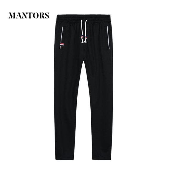 2018 Autumn New Men Cotton Sweatpants Fitness Solid Joggers Trousers