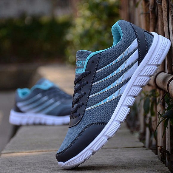 Comemore New Hot Lace-Up Sport Shoes Men's Super Light Sneakers Outdoor Athletic Men LightWeight Air Mesh Breathable Sneakers