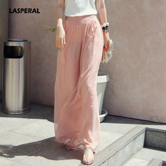 Nibesser 2018 High Waist Loose Trousers Female Women Wide Leg Pants
