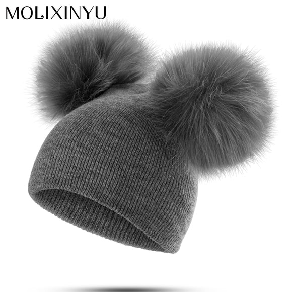 MOLIXINYU Children Hat Toddler Kids Baby Warm Winter Wool Hat