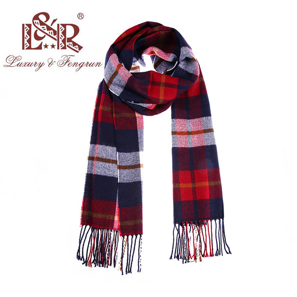 2018 Autumn Winter Unisex Cashere Men Scarf Foulard Plaid Male Scarves
