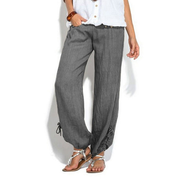 Laamei Casual Wide Leg Pants Women Long