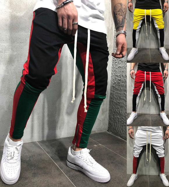Jogger Pants Zippers On Pants Legs Mens 2018 New Sports Gym Workout