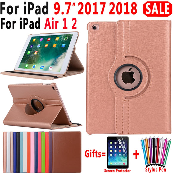 360 Degree Rotating Leather Smart Cover Case for Apple iPad Air