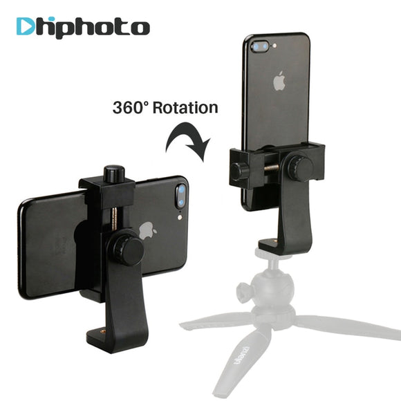 Universal Phone Tripod Mount Adapter Cell Phone Clipper Holder