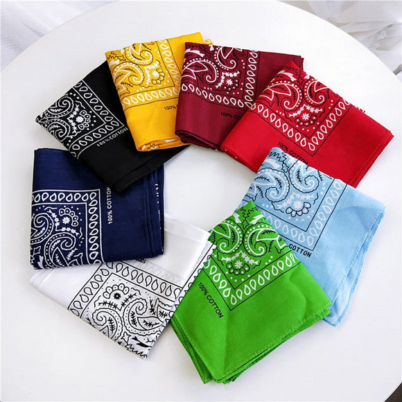 Unisex Cotton Blend Hip Hop Bandana Headwear Hair Band Scarf