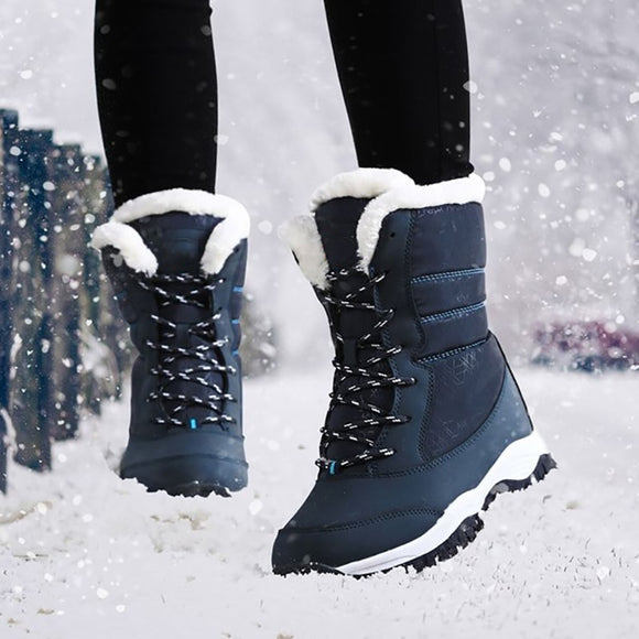 Women Boots Warm Fur Winter Boots Fashion Women Shoes Lace Up