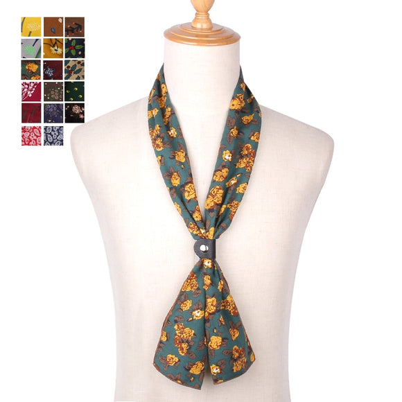 Fashion Cotton Scarf for Women Men Casual Floral Print Scarve