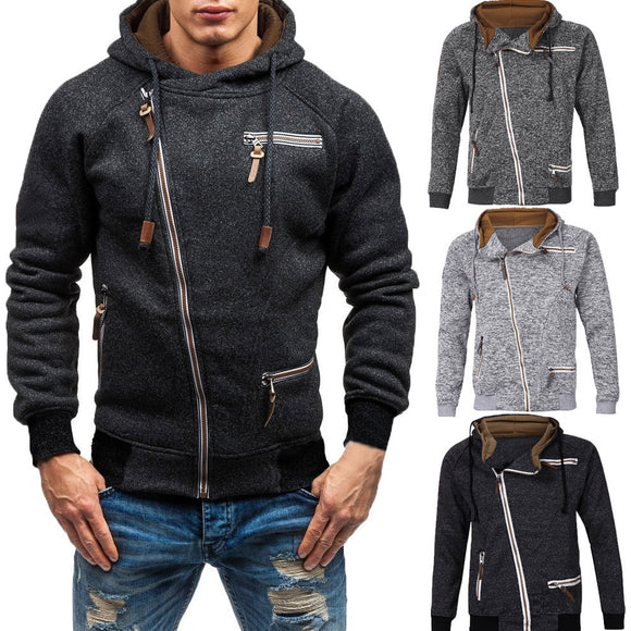 Jacket Men  Autumn Long Sleeve Zipper Outerwear & Coats