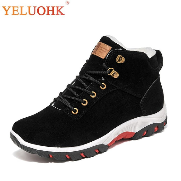 Winter Shoes Men Plush Warm 2018 Winter Boots Men Anti skidding