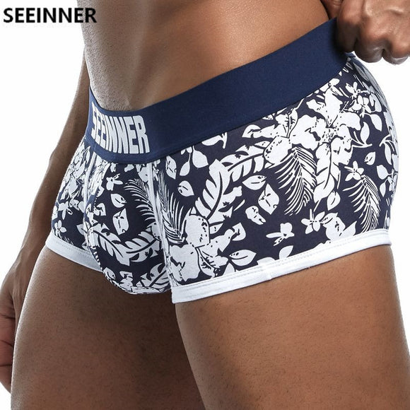 2018 New Brand Male Panties Breathable Boxers Cotton Men Underwear
