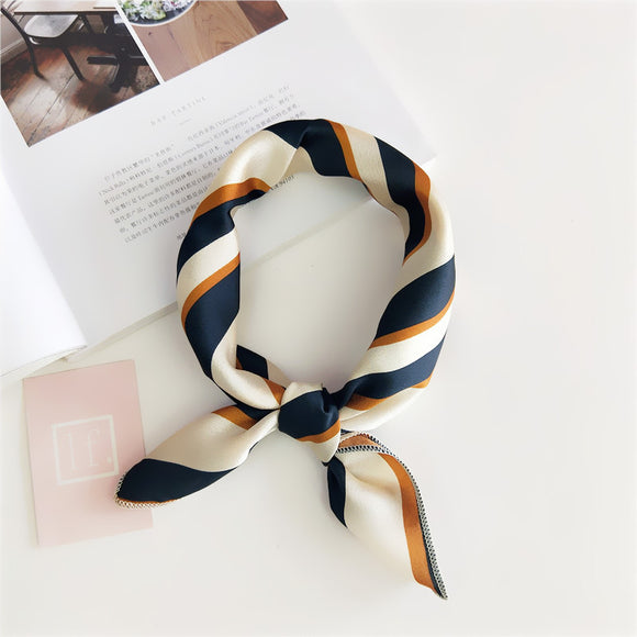 Women 50*50 Small Soft Hair Tie Band Decorative Multifunctional Head Scarf