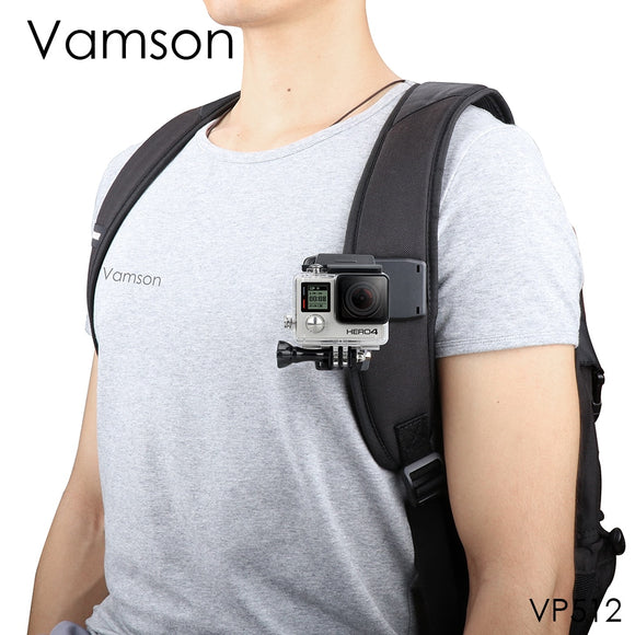 Vamson for Go Pro Accessories 360-Degree Rotation Clip For GoPro Hero