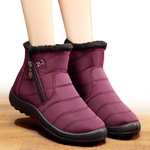 Women Boots 2018 Winter Shoes Woman Snow Boots With Plush Inside Botas