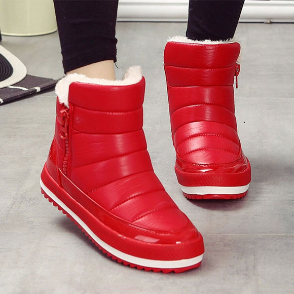 Women Boots Female Snow Boots Winter Boots Women Flat Waterproof Ankle