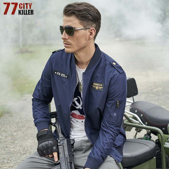 77City Killer Male Casual Air Force Flight Jacket Men Army Military tactical jacket