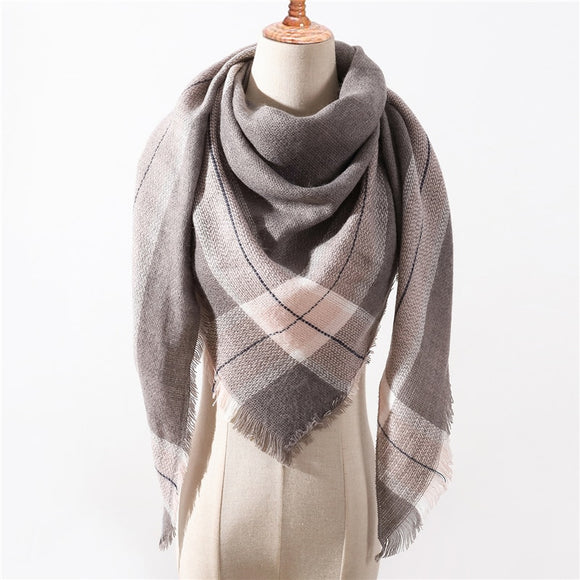 Designer 2018 new winter scarf for women shawls plaid ladies cashmere scarves