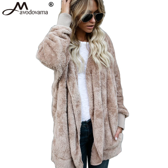 AVODOVAMA M Fashion Casual Women Long Cardigans Hooded